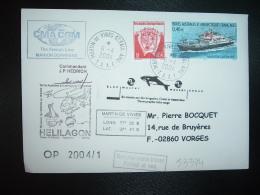 LETTRE TP MARION DUFRESNE 0,46E + 0,05E OBL.6-4-2004 MARTIN DE VIVIES ST PAUL AMS + CMA CGM + Commandant JP HEDRICH - Terres Australes Et Antarctiques Françaises (TAAF)