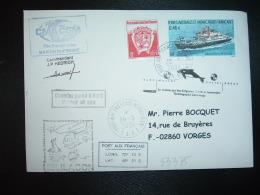 LETTRE TP MARION DUFRESNE 0,46E + 0,05E OBL.28-3-2004 PORT AUX FRANCAIS KERGUELEN + CMA CGM + Commandant JP HEDRICH - Terres Australes Et Antarctiques Françaises (TAAF)