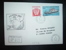 LETTRE TP MARION DUFRESNE 0,46E + 0,05E OBL.21-6-2004 PORT AUX FRANCAIS KERGUELEN + MID WINTER 2004 - Terres Australes Et Antarctiques Françaises (TAAF)