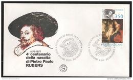 FDC Vaticano 1977 RUBENS Da 350 Lire Filagrano - FDC
