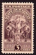 USA 1940 50th Anniversary Of Wyoming, Hinged Mint (SG 894)