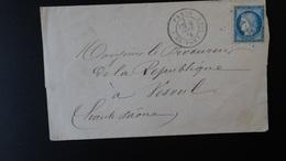 France - Lettre Enveloppe - Etoile 17 - 25c Cérès - Année 1875 - 1849-1876: Classic Period