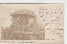 Pres. Roosevelt In Fremont (Train) - Orig.Photocard - 1905     (A30-140721) - People