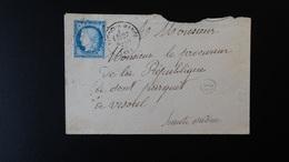 France - Enveloppe - 25c Cérès - Année 1875 - 1849-1876: Classic Period