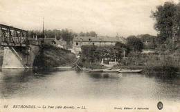 CPA - RETHONDES (60) - Aspect Du Pont Côté Amont En 1916 - Rethondes