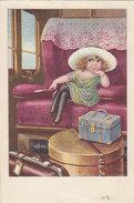 Mädchen Im Zug - Int. Finnische Frankatur & Abstempelung - 1926     (A30-130421) - Illustratori & Fotografie