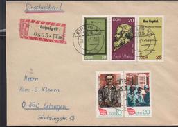 3119 Carta   Alemania  Certificada DDR Leipzig