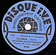 78 T - 19 Cm. - état B -  Garde Républicaine - GLORIA - MICHEL STOGOFF - 78 Rpm - Schellackplatten