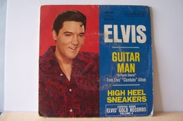 ELVIS  PRESLEY -- GUITAR  MAN  -  HIGH  HEEL    - Ref: RCA VICTOR 49.536 ( Année  1968 ) - - Rock
