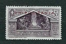 TRIPOLITANIA 1930 - Bimillenrio Della Nascita Di Virgilio - 5 L. + 1,50 C. Violetto - MH - Sa IT-TP 85 - Tripolitania