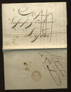 1816  Lettre De Paris Vers Lyon - Marcophilie (Lettres)