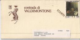 ITALIA15) 1982 Storia Postale Programma Della Festa TITOLARE Della CONTRADA DI VALDIMONTONE SIENA - Programmi