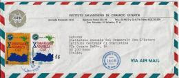 EL SALVADOR 1980)Storia Postale Aerea Da Ist.del Commercio Estero SAN SALVADOR - El Salvador
