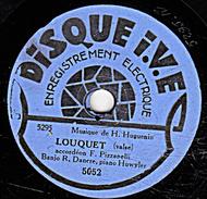 78 T - 19 Cm. - état B - Accordéon Banjo Piano - LOUQUET - PERLES DE CRISTAL - 78 T - Disques Pour Gramophone