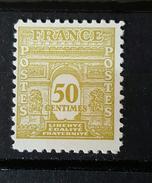 YT 623 - Arc De Triomphe De L 'Etoile - 50cts - Neuf Charnière - 1944-45 Triomfboog