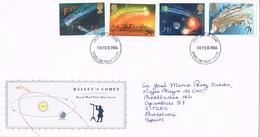 23656. Carta STOKE On TRENT (England) 1986. Astronomia. Cometa HALLEY
