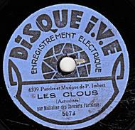78 T - 19 Cm. - état B -  Mullalier Des Concerts Parisiens - LES CLOUS - Ou Qu't'as Mis La Clé De La Cave - 78 Rpm - Schellackplatten