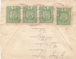 Brief ÖSTERREICH BÖHMEN WIEN 1918 - 4 Fach Frankierung, Brief Ohne Inhalt - Storia Postale