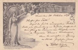 Ganzsache ITALIEN 1896 Gel. NERVI - FRANKFURT - 1878-00 Humbert I.