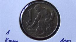 Czechoslovakia - 1992 - 1 Krone - KM 151 - XF - Look Scans - Tschechoslowakei