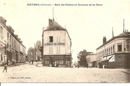 RETHEL (ARDENNES) - Rue Du Palais Et Avenue De La Gare - Rethel