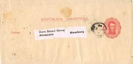 23661. Faja De Publicacion Entero Postal BUENOS AIRES (Argentina) 1888 A Alemania - Cartas