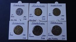 Czechoslovakia - 1991 - 10,20,50 Heller + 1,2,5 Kronen - KM 146,143,144,151,148,152 - XF - Look Scans - Tschechoslowakei