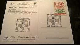 ITALIA 2014 CROCE ROSSA - 150 ANNI - ANNULLO VERONAFIL - Croce Rossa