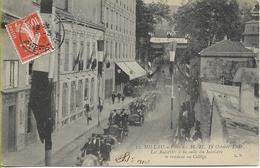 MILLAU Fêtes Des 16-17-18 Octobre 1909 Les Autorités à La Suite Du Ministre Se Rendant Au Collège - Millau