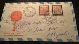 ITALIA 1958 TRASPORTO POSTALE CON PALLONE AEROSTATICO - CENTENARIO FRANCOBOLLO REGNO NAPOLI - Airplanes