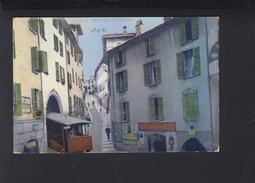 Schweiz AK Lugano Via Della Catedrale 1913 - TI Tessin