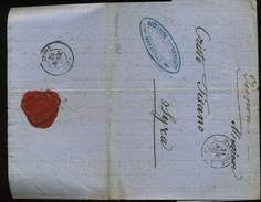 1865  Lettre De Marseille  Vers Syra    Cachet De Passage Ou Arrivée GREC - 1801-1848: Précurseurs XIX