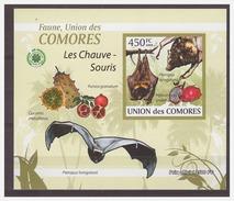 0047 Comores 2009 Vleermuizen Bats S/S MNH Imperf - Vleermuizen