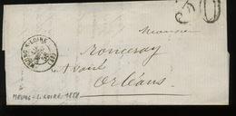 1858  Lettre De Meung Sur Loire Vers Orleans   Lettre Non Complète - Marcophilie (Lettres)