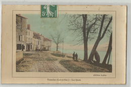 Lot Et Garonne - 47 - Tonneins Les Quais Cachet Buzet 1909 , Ed Lafitte - Tonneins