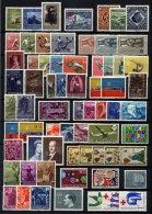 SAMMLUNGEN, LOTS A.301-535 *, **, Ungebrauchte Partie Verschiedener Werte Liechtenstein Von 1951-70, Fast Nur Prachterha - Sammlungen