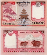 NEPAL       5 Rupees       P-69        2012 / BS2069      UNC  [ Sign. 19 ] - Nepal