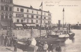 Honfleur 14 - Arrivée Du Bâteau Du Havre - Bâteau Vapeur - Honfleur