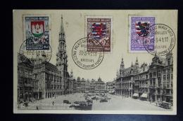Belgium POstcard 1941  OBP Nr 538 + 540 + 541 Paleis Voor Schone Kunsten Brussel - Briefe U. Dokumente