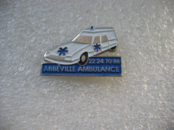 Pin's Médical: Abbeville Ambulance, Citroen CX - Medical