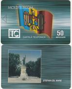 MOLDOVA - Flag, Monument, Stefan Cel Mare, Moldtelecom Telecard 50 Units, Sample(no Chip, No CN)