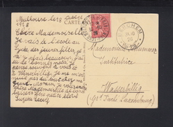 Frankreich AK Mulhouse 1928 Nach Wasserbillig Berchem Luxemburg - Lussemburgo
