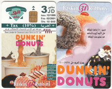 JORDAN - Dunkin Donuts, Tirage 10000, 12/99, Sample(no CN)