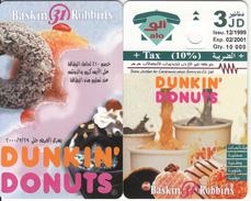 JORDAN - Dunkin Donuts, Tirage 10000, 12/99, Dummy Telecard(no Chip, No CN)