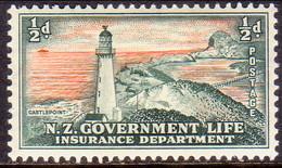 NEW ZEALAND 1947 SG L42 ½d MH Life Insurance - Officials