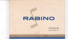CARD CUNEO CARTONCINO PUBBLICITARIO STILE FUTURISTA RABINO ORO GIOIE  2 SCAN --2-0882-27054-55 - Cuneo
