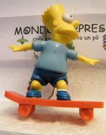 MONDOSORPRESA, (SC55SM) SIMPSON  PORTACHIAVI, BART SU SKATEBOARD FIGURA ALTA 8 Cm 1990 - Cartoons