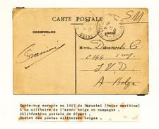 042/25 - Carte-Vue Rouen Expédiée En S.M. De DARNETAL En 1917 Vers Les Postes Militaires Belges No 7 - WW I
