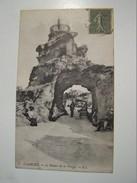 Cp1300 E14  BIARRITZ Le Rocher De La Vierge  Animée 1918 - Biarritz