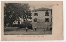 64 - ITXASSOU . LE JEU DE PELOTE . L'HÔTEL TEILLERY . FRONTON  - Réf. N°437 - - Itxassou